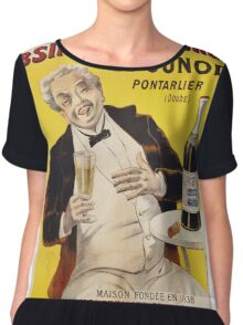 Unknown - Absinthe Superieure Beverage Poster. Man portrait: alcoholic, drinker, drunkard, wino,  fun,  hangover, humor, bottle, glass,  joy, meeting Chiffon Top