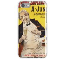Unknown - Absinthe Superieure Beverage Poster. Man portrait: alcoholic, drinker, drunkard, wino,  fun,  hangover, humor, bottle, glass,  joy, meeting iPhone Case/Skin