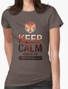 Keep Calm and go to Tomorrowland - Crowd Womens Fitted T-Shirt