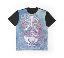 rib cage floral Graphic T-Shirt