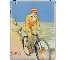 Unknown - Rochet Cycles Motos Poster. Man portrait: strong man,  bicycle ,  bicycling ,  cycle,  cycling,  enjoy,  free time,  fun,  hobbies,  hobby,  holiday iPad Case/Skin