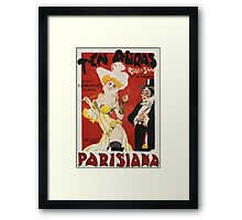 Unknown - T En Auras, Parisiana Poster. Woman portrait: sensual woman, Women,  Hats,  French Culture ,  Theaters,  Dresses,  Smoking,  Cigars ,  Cigarettes,  Antiques,  Gloves Framed Print