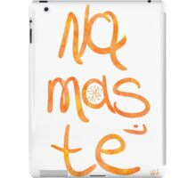 Namaste poster orange mango iPad Case/Skin