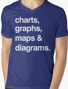 charts, graphs, maps and diagrams Mens V-Neck T-Shirt