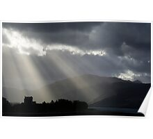 Sunrays over Eilean Donan Castle Poster