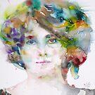 MAUD GONNE - watercolor portrait by lautir