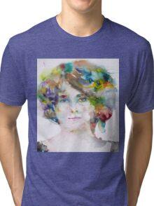 MAUD GONNE - watercolor portrait Tri-blend T-Shirt