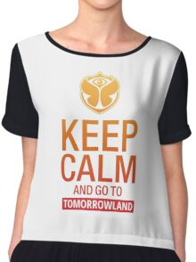 Keep Calm and go to Tomorrowland - Yellow gradient Chiffon Top