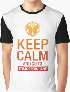Keep Calm and go to Tomorrowland - Yellow gradient Graphic T-Shirt