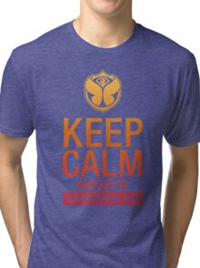 Keep Calm and go to Tomorrowland - Yellow gradient Tri-blend T-Shirt