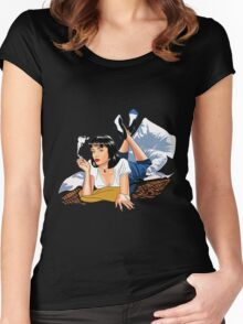 Pulp Fiction - Blue Mia Women's Fitted Scoop T-Shirt