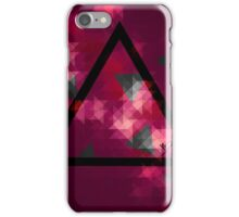 Retro Triangle purple iPhone Case/Skin