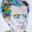 GUSTAV MAHLER - watercolor portrait.3 by lautir