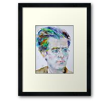 GUSTAV MAHLER - watercolor portrait.3 Framed Print