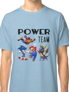 Gaming Power Team: Mario, Crash, Spyro, Sonic Classic T-Shirt