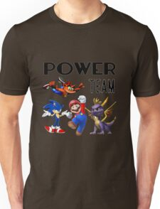 Gaming Power Team: Mario, Crash, Spyro, Sonic Unisex T-Shirt