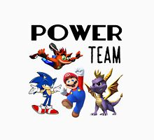 Gaming Power Team: Mario, Crash, Spyro, Sonic Unisex T-Shirt
