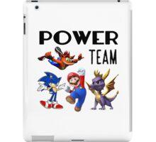 Gaming Power Team: Mario, Crash, Spyro, Sonic iPad Case/Skin