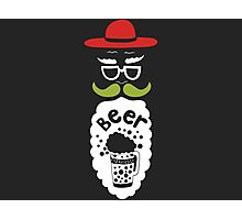 A Beard Beer Man With Mustache Photographic Print