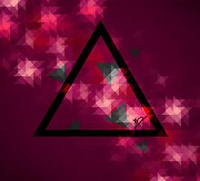 Retro Triangle purple by mspdesign