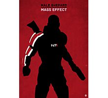 Male Shepard - Mass Effect Photographic Print