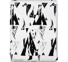 Monochrome Triangles iPad Case/Skin
