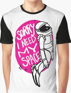 Need My Space - Pink Graphic T-Shirt