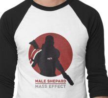 Male Shepard - Mass Effect Men's Baseball ¾ T-Shirt