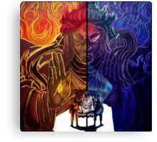 Naruto and Sasuke (sage of six paths) Canvas Print