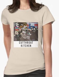 Cutthroat Kitchen Doodle Womens Fitted T-Shirt