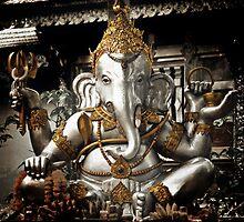 Silver Ganesh, Chiang Mai, Thailand. by Ramona Farrelly