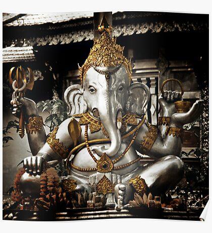 Silver Ganesh, Chiang Mai, Thailand. Poster