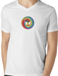 Trippy Alien Mens V-Neck T-Shirt