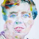 ELEANOR ROOSEVELT - watercolor portrait by lautir