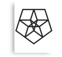 Star in a star - geometry Canvas Print