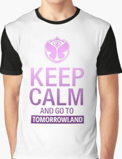 Keep Calm and go to Tomorrowland - Purple gradient Graphic T-Shirt