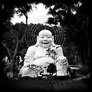 Laughing Buddha, Dalat, Vietnam by Ramona Farrelly
