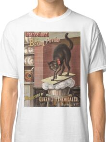 Unknown - Advertisement For International Baking Powder.. Cat portrait: cute cat, cook,   kitchen,  cafe,   restaurant,   dough,   cake,   buns,   biscuit, dessert, sweet Classic T-Shirt