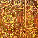 Orange  Floral Pattern by Stephen Frost