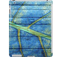 The painting leaf paint on the wood #4 iPad Case/Skin