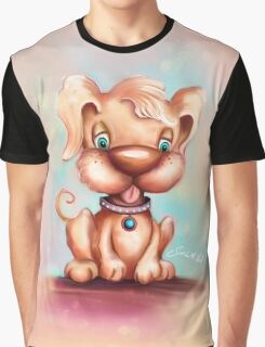 Cute Colorful Puppy Dog Graphic T-Shirt