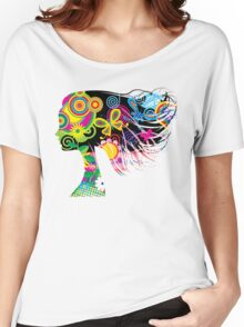 Girl with flowers Women's Relaxed Fit T-Shirt