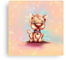 Cute Colorful Puppy Dog Canvas Print
