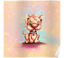 Cute Colorful Puppy Dog Poster