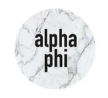 Marble Alpha Phi Photographic Print