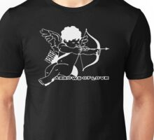 Cupid holding a crossbow with arrows of love Unisex T-Shirt