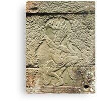 Apsara Carving - Angkor Wat, Cambodia Canvas Print