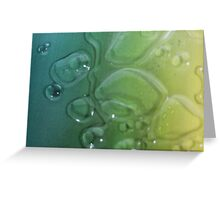 Water Droplets On Colorful Canvas Greeting Card