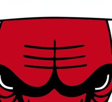 chicago bulls logos Sticker