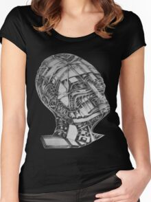 THE OBSERVER OF THE MIND   Women's Fitted Scoop T-Shirt